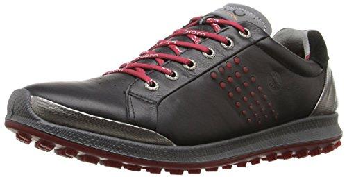 ECCO Herren Men's Golf Biom HYBRID 2 Golfschuhe, Schwarz (50612BLACK/BRICK), 43 EU