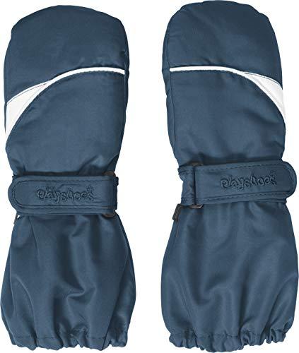 Playshoes Kinder Fäustlinge mit Thinsulate-Technik warme Winter-Handschuhe mit Klettverschluss, marine, 2