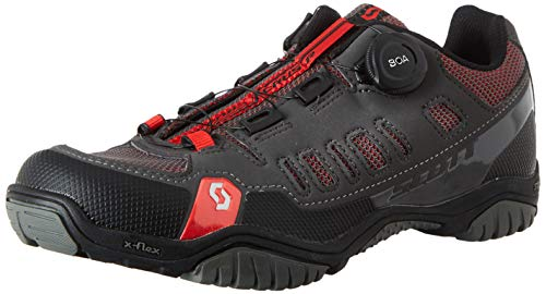 Scott Men's Sport Crus-R Boa Mountain Bike Shoes, Gray (Anthracite / Red 001), 44 EU