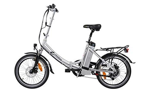 e-motos Alu Pedelec K20 Faltrad Klapprad E-Bike mit Panasonic Akku (17Ah)
