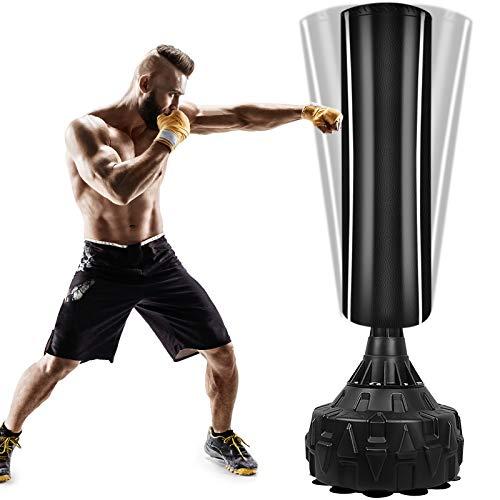 Boxsack StandboxsäckeTrainingsgeräte Erwachsene Freistehender Standboxsack MMA Boxpartner Boxing Trainer Heavy Duty Boxsack mit Saugfuß, Punchingsäcke für...