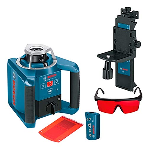 Bosch Professional GRL 300 HV, 300 m working area with receiver, remote control, transport case, receiver, wall bracket