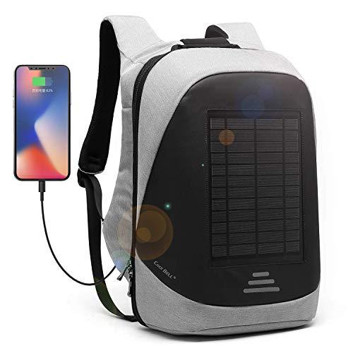 CoolBELL 15,6 Zoll Laptop Rucksack mit USB Ladeanschluss Stadt Anti-Diebstahl Tasche Functional Knapsack leicht wasserdicht Rucksack für Herren/Damen (15,6 Zoll,...