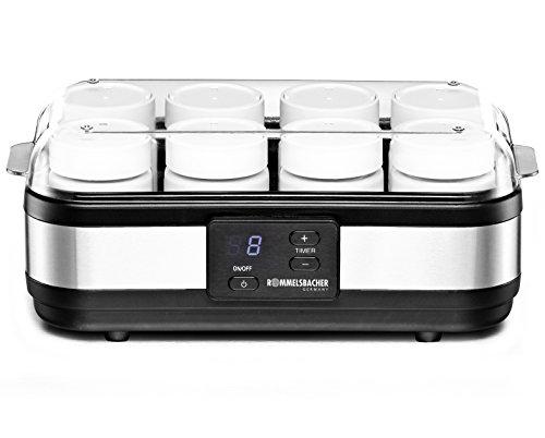 ROMMELSBACHER Joghurtbereiter JG 40 - für bis zu 1200 g Joghurt, LCD Display, 18 Stunden Zeitschaltuhr, automatische Abschaltung, elektronische Temperaturregelung,...