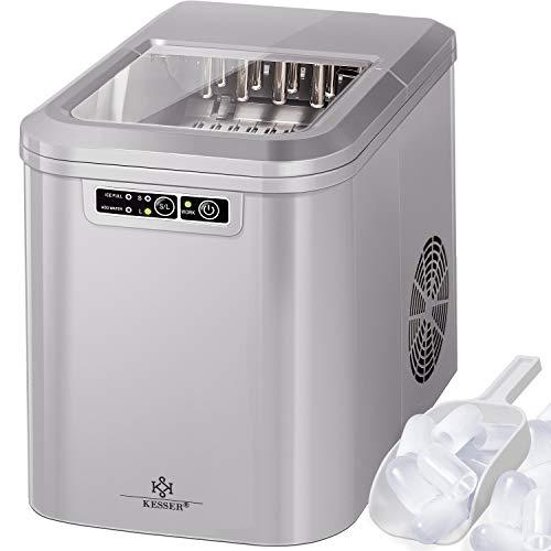 KESSER® Eiswürfelbereiter | Eiswürfelmaschine Edelstahl | Ice Maker | 12 kg 24 h | Zubereitung in 7 min | 2,2 Liter Wassertank | 2 Eiswürfel-Größen |...
