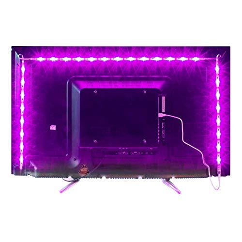 MY LAMP Led TV Hintergrundbeleuchtung,2M USB Led Beleuchtung Hintergrundbeleuchtung Fernseher USB für 40 bis 60 Zoll HDTV,TV-Bildschirm und PC-Monitor,Led...