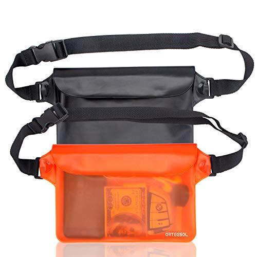 arteesol Wasserdichte Tasche Gürteltasche Strandtasche mit verstellbarem Hüftgurt Wasserdichte Beutel Bauchtasche Handyhülle Schutzhülle Strandtasche für...