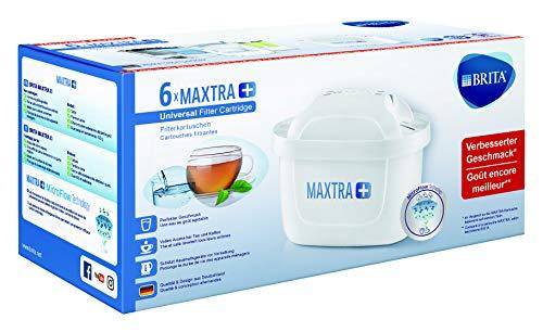 BRITA Filterkartuschen MAXTRA+ im 6er Pack – Kartuschen für alle BRITA Wasserfilter zur Reduzierung von Kalk, Chlor & geschmacksstörenden Stoffen im...
