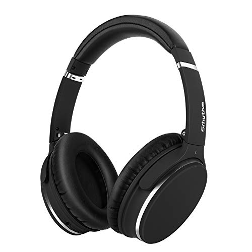 Srhythm Noise Cancelling Kopfhörer Bluetooth 5.0,Faltbar,Kabellos,NC25 ANC Over Ear mit 50h Akkuleistung,Mikro,Sprachanruf,Spielemodus mit Geringer Latenz for...