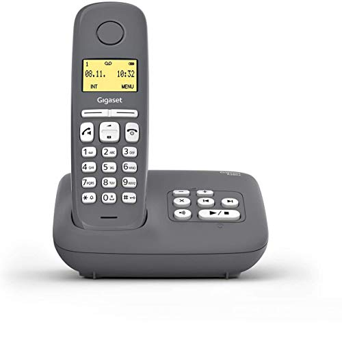 Gigaset A280A DECT-Schnurlostelefon mit Anrufbeantworter für beste Kommunikation mit großem Grafik-Display, perfekter Audioqualität und Freisprechfunktion - Made...
