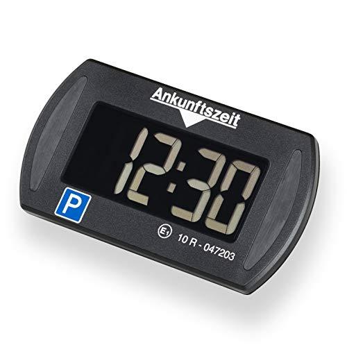 Needit Park 3011 Mini elektronische Parkscheibe digitale Parkuhr mit offizieller Zulassung des Kraftfahrtbundesamtes I Batterie u. Montage Zubehör
