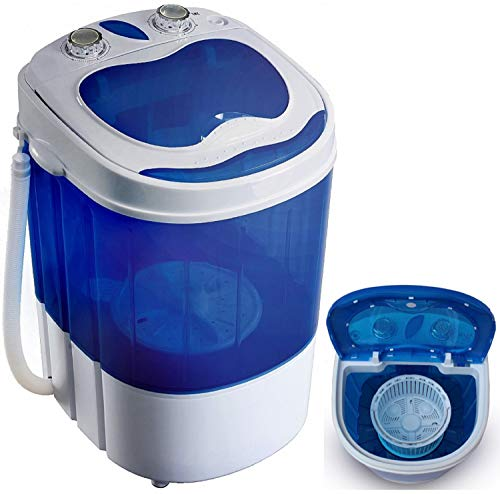 Mini washing machine with spin dryer Washing machine up to 3 KG | Travel washing machine Mini washing machine | Camping Mobile Washing Machine Toploader | (1 chamber)