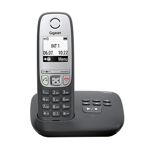 Gigaset A415A cordless / DECT telephone (with answering machine, with hands-free function, graphic display and easy operation) black