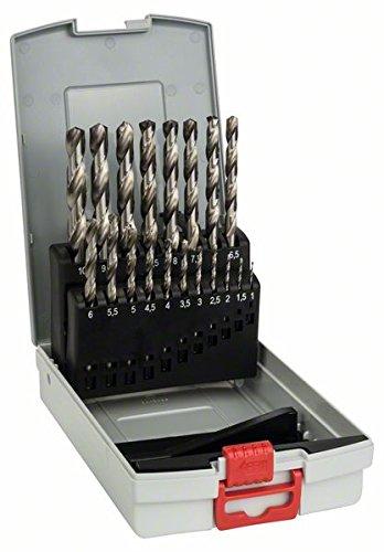 Bosch Professional 19tlg. ProBox Metallbohrer Set HSS-G (geschliffen, Zubehör Bohrschrauber und Bohrständer)