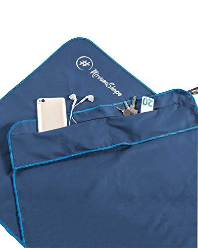 NirvanaShape ® Fitness-Handtuch | Aus starker Mikrofaser mit Magnet-Clip, stilvoll & funktional | Ultra-saugfähig & kompakt | Dein perfektes Sport-Handtuch fürs...