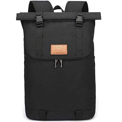 Myhozee Rucksack Herren Damen, Wasserabweisend Laptop Rucksack, Diebstahlschutz Roll Top Rucksäcke Daypacks, Schulrucksack Tagesrucksack Trekkingrucksacke für...