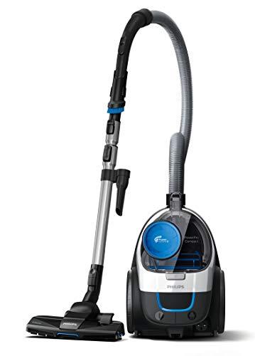 Philips beutelloser Staubsauger PowerPro Compact FC9332/09 (sehr niedriger Stromverbrauch bei hoher Leistung, 1,5 L Staubvolumen, integriertes Zubehör) weiß