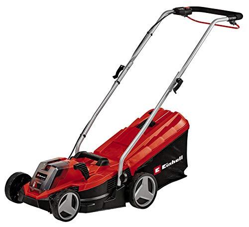 Einhell cordless lawn mower GE-CM 18/33 Li (1x4,0Ah) Power X-Change (Li-Ion, up to 200 m², 33 cm cutting width, 5x central cutting height adjustment, 30 L ...