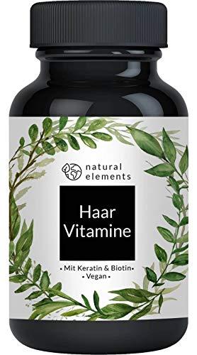Haar Vitamine - Einführungspreis - 180 Kapseln - Premium: Hochdosiert mit Keratin, Biotin, Selen, Zink, Hirseextrakt, bioaktiven B-Vitaminen & mehr - Laborgeprüft...