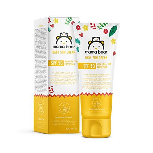 Amazon Brand: Mama Bear Baby Sunscreen SPF 50 (High UVA / UVB Protection) 4 Tubes - 4x100ml