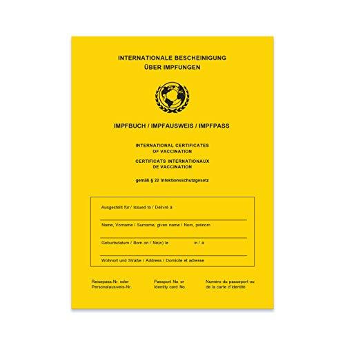 Impfpass/Impfbuch/Impfausweis - 2021 - Internationale Bescheinigung über Impfungen in Gelb