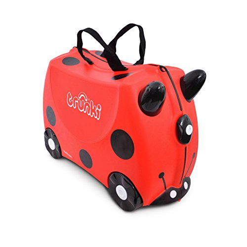 Trunki Trolley Children's Suitcase, Hand Luggage for Children: Harley Ladybird (Red)