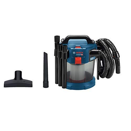 Bosch Professional 18V System Akku Staubsauger GAS 18V-10 L (ohne Akkus und Ladegerät, mit Flachfaltenfilter, Bodendüse, Fugendüse, 1,6 m Schlauch, Volumenstrom...