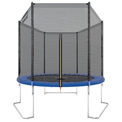 Ultrasport Gartentrampolin, Outdoor Trampolin, Kindertrampolin, 183-430cm, Sprungfedern oder innovatives Elastik Sprungssystem, inkl. Sicherheitsnetz,...