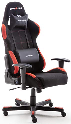 Robas Lund OH / FD01 / NR DX Racer 1 gaming / office / desk chair, with rocker function Gaming chair Height-adjustable swivel chair PC chair Ergonomic executive chair, ...