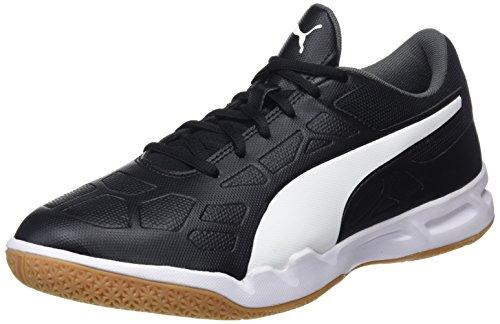 PUMA unisex adults' Tenaz Multisport Indoor Shoes, Black-White-Iron Gate-Gum, 43 EU