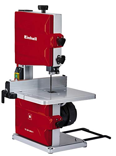 Einhell Bandsäge TC-SB 200/1 (250 W, max. Schnitthöhe 80 mm, Durchmesser Absauganschluss 36 mm, Parallelanschlag, Schiebestock)