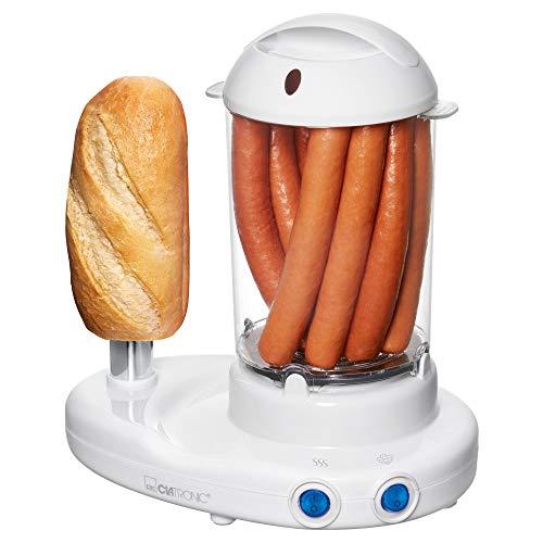 """Clatronic HDM 3420 Hot-Dog-Maker inklusiv Eierkocher, Für 1 bis 14 Würstchen (z. B. """"Frankfurter"""", """"Wiener""""), Zubereitung von bis zu 6 Eiern, beheitzter..."""