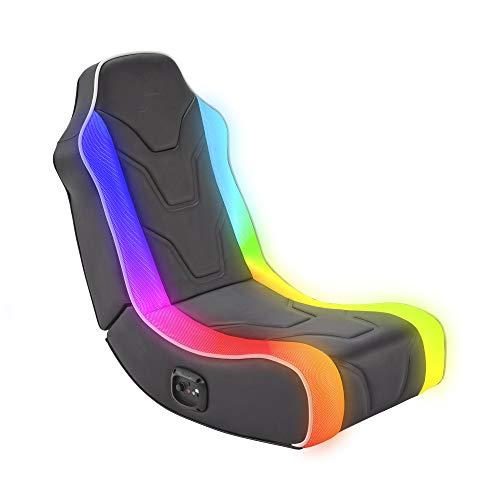 X Rocker Chimera RGB 2.0 Floor Rocker Gaming Sessel mit 2.0 Soundsystem & Neo Motion Beleuchtung für Kinder & Jugendliche
