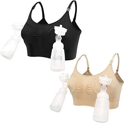 LOVELYBOBO 2 Pack: n naisten äitiyshoitoliivit Olkaimeton hands free -pumput Bustier-rintapumppu