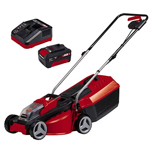 Einhell City cordless lawnmower GE-CM 18 / 30 Li Kit X-Change (Li-Ion, 18 V, up to 150 m², 30 cm cutting width, 3-stage cutting height adjustment, incl. 18 V 3 ...