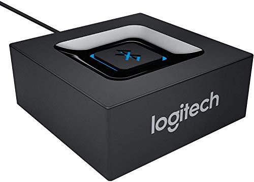 Logitech Kabelloser Bluetooth Audio-Empfänger, Multipoint Bluetooth, 3,5 mm & Cinch-Eingang, Pairing-Taste, 15 m Reichweite, EU Stecker,...