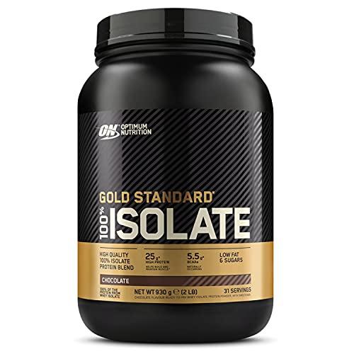 Optimum Nutrition ON Gold Standard 100% Isolate, Whey Isolate Protein Pulver, Eiweißpulver mit natürlich enthalten Glutamin und Aminosäuren, Chocolate, 31...