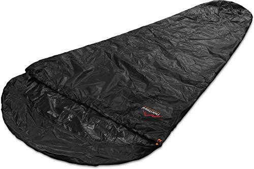 normani Schlafsacküberzug Biwaksack - 100% Wind- und wasserdicht, Atmungsaktivität: 3000 MVP (230 cm x 90 cm) Farbe Black Größe 230 x 90 x 60 cm - RV Rechts