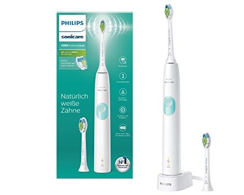 Philips Sonicare ProtectiveClean 4300 elektrische Zahnbrste HX6807/51 Schallzahnbrste mit Clean-Putzprogamm, Andruckkontrolle & Timer Wei