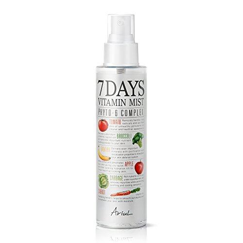 Ariul - Erfrischendes Gesichtsspray, Erfrischungsspray mit Vitamin C, B2, B3 und B12-7 Days Face Mist, Koreanische Kosmetik