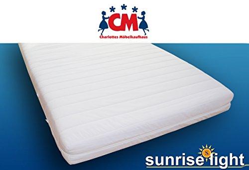 Sunrise Light Kindermatratze Babymatratze 90x200 cm Schaumstoffmatratze Bezug abnehmbar waschbar Kinder Matratze Schaumstoff punktelastisch, schadstoffgeprüft mit...