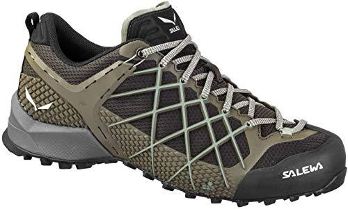 Salewa MS Wildfire Trekking & Hiking Boots, Black (Black / Olive Siberia 7625), 44.5 EU