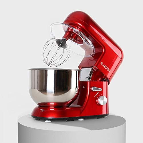Klarstein Preis/LEISTUNGSSIEGER Bella Rossa - Küchenmaschine, Rührmaschine, Knetmaschine, 1200 Watt, 1,6 PS, 5,2 Liter, planetarisches Rührsystem, 6-stufige...