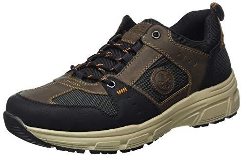 Rieker Herren B6922 Sneaker, schwarz/Tabak/anthrazit/schwarz 01, 43 EU
