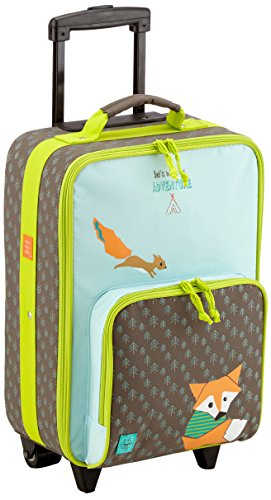 LÄSSIG Children's suitcase / trolley Children's luggage / travel case with telescopic handle and wheels / Kids Trolley, little tree fox