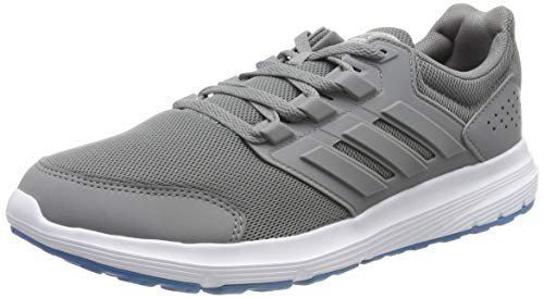 adidas Men's Galaxy 4 Running Shoes, Gray (Gray / Gray / Shock Cyan 0), 42 EU