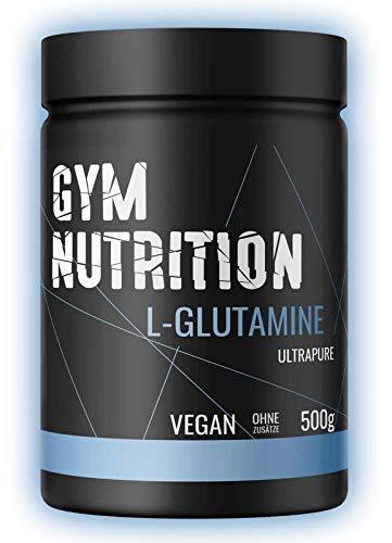 GYM-NUTRITION L-GLUTAMIN Ultrapure Pulver extra hochdosiert & 99,5 % rein proteinogene Alpha-Aminosure, vegan ideal fr Body-Builder Made in Germany 500-g,...