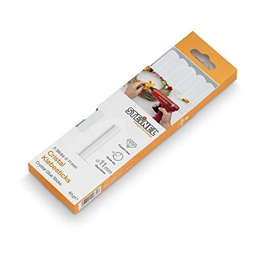 Steinel 013776 11 mm Klebesticks, Bastelkleber, Heißklebesticks, Klebstoff, Transparent, 60 g, 5 Stück