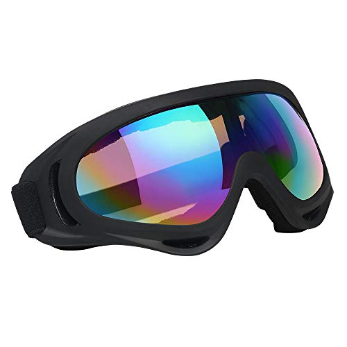 Vicloon ski goggles, 1 piece of ski snowboard goggles, UV protection goggles, motocross glasses, helmet compatible, anti-fog ski goggles, sports glasses for skiing, motorcycles, bicycles ...