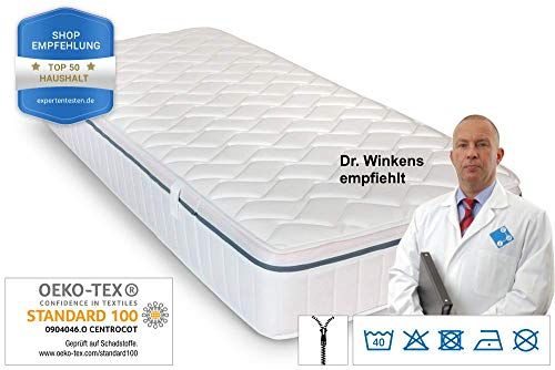 Ortho Relax mattress, 23cm high, H3, 7-zone special comfort foam mattress, air duct technology (90x200) with KB